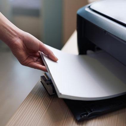 Feuille pour photocopie