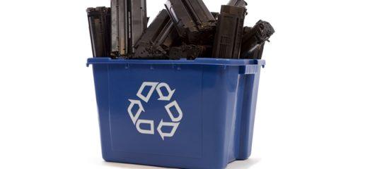poubelle de tri sélectif, recycler cartouches